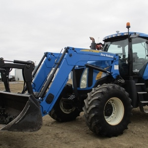 Medium new holland t8010 tractor with fel