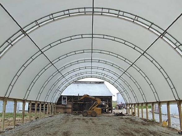 in midwest buildings covered barns steel top the best series for fabric hoop cattle accu