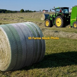 Medium johnson grass net wrapped